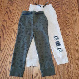 Boys Disney Marvel Star Wars Fleece Sweatpants XS